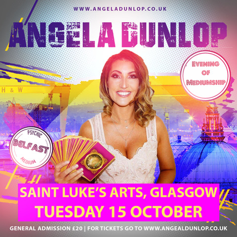 ANGELA DUNLOP, PSYCHIC MEDIUM | Saint Luke's Glasgow